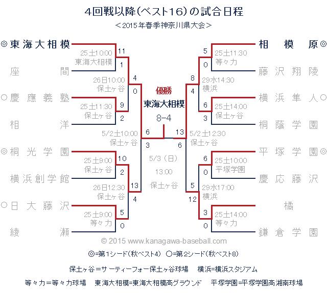 2015年春季神奈川県大会