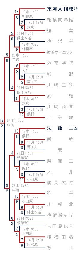 2014年夏-東海大相模・法政二ブロック